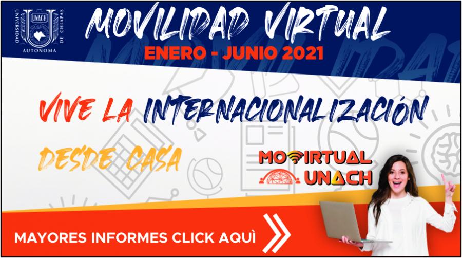 Convocatoria Movilidad Virtual UNACH 2021-1