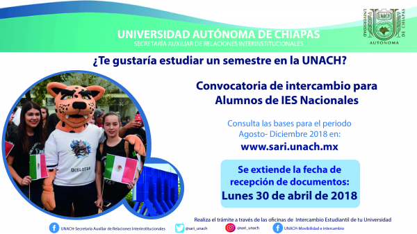 Convocatoria de Intercambio Nacional