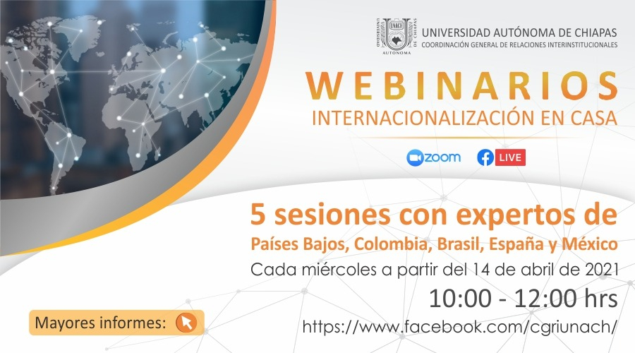 Webinarios sobre Internacionalización en Casa