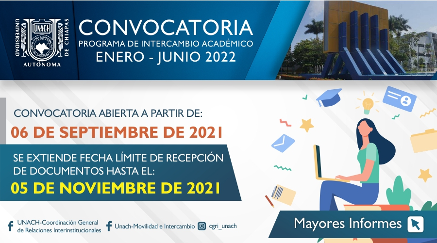 Convocatoria Intercambio ene-jun 2022