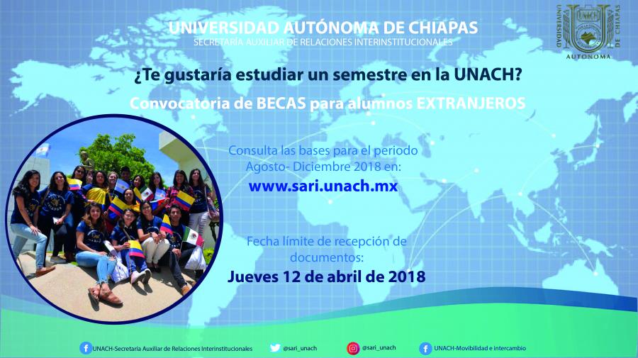 Convocatoria de Becas para Alumnos Internacionales